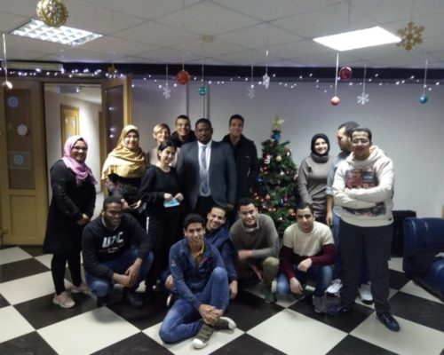 زيارتنا لطلابنا في جامعة استراخان الحكومية