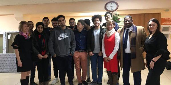 زيارتنا لطلابنا في جامعة اورال الاقتصادية