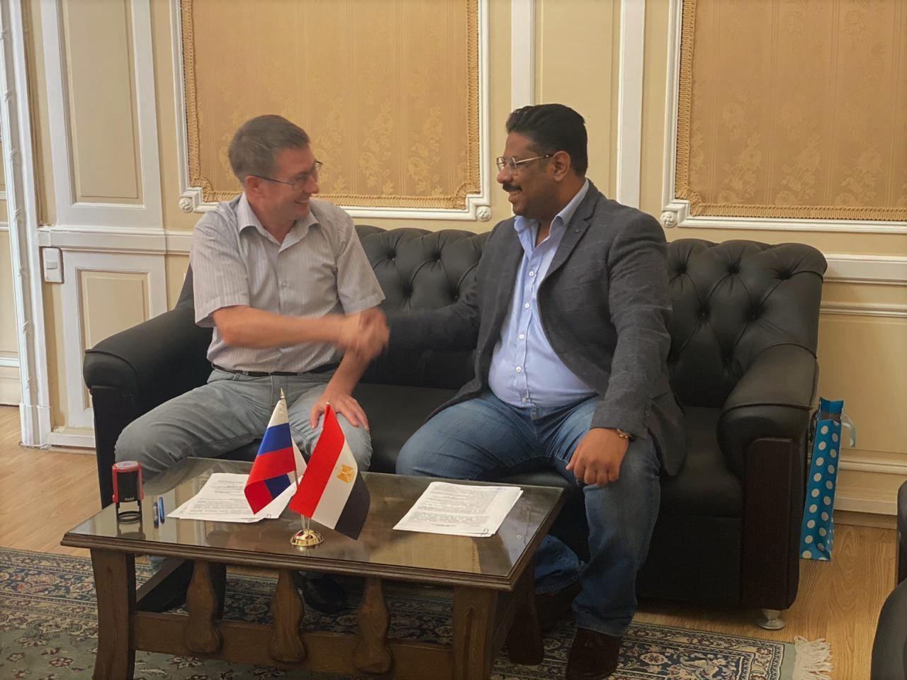التعاون مع الملحق الثقافي الروسي بالاسكندرية